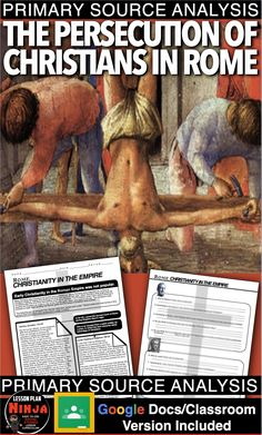 Persecution of Christians in Rome Primary Source Activity teaches students about… Family History Quotes, Black History Quotes, American History Lessons, World History Lessons, Art History, World History Teaching, History Education, History Lesson Plans, Social Studies Notebook