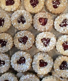 Gluten free Linzer cookies yum! Linzer Cookies, Gluten Free Bakery, Doughnut, Baked Goods, Baking, Shop, Desserts, Christmas, Bread Making