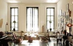 beautiful floor to ceiling windows. gallery wall