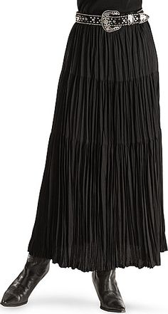 Classic Broomstick Skirt - nice in black, especially with these accessories.