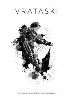 prints on steel Movies & TV edge of tomorrow tom cruise emily blunt sergeant rita vrataski robot future readiness