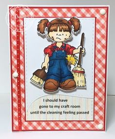 """High Hopes Stamps: Tillie's Cleaning Day by Donna using """"Tidy Up Tillie"""" (S128)"""