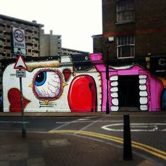 Brand new sweettooth street art graffiti hoxton London