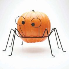 Large Spider Metal Pumpkin Stand - as seen on realsimple.com  #halloween #pumpkin #stand #holder #realsimple.com #toadhollow