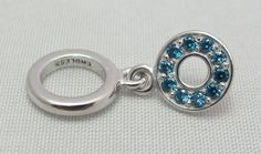 New & Authentic Endless Sky Blue Circle of Love Drop Sterling Silver Charm  #Endless now available at Keswick Jewelers in Arlington Heights, IL 60005 P: 847.394.9365