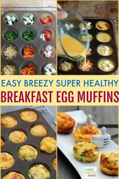 Easy Breezy Super Healthy Breakfast Egg Muffins There is nothing better than starting the day with the right kind of foods. Healthy breakfast ideas are the best. Easy Breezy Super Healthy Breakfast Egg Muffins are just perfect for the entire family. Clean Eating Snacks, Healthy Snacks, Healthy Breakfasts, Healthy Recipes, Healthy Nutrition, Snacks List, Nutrition Quotes, High Protein Recipes, Keto Recipes