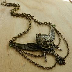 Image of Stunning Steampunk Winged Clockwork Necklace Steampunk Wings, Mean Girls, Necklaces, Bracelets, Girl Outfits, Chain, Image, Jewelry, Fashion