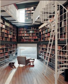 Wow…..a library in a house in Zurich