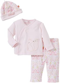 Magnificent Baby Baby-Girls Long Sleeve Kimono Pant Hat, Woodland Damask, 3 Months. Makes your life easier. Smart close magnetic technology to dress baby in seconds. Keeps your little one covered and comfy. 100 percent soft and gentle natural cotton. Perfect for trip home from the hospital.