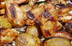 Výborná marináda na kuracie krídelká grilované vonku v prírode, ak dá počasie. Inak samozrejme doma v rúre, alebo na grilovacej platni. Chicken Wings, Menu, Dinners, Food, Menu Board Design, Dinner Parties, Food Dinners, Essen, Meals
