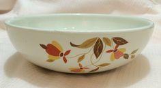 """Vintage Hall China Jewel Tea Autumn Leaf 2 Quart 9"""" Salad Bowl EUC #HallChina #Vintage #JewelTea #AutumnLeaf #SaladBowl #ServingBowl"""
