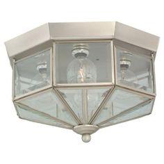 Sea Gull Lighting Grandover 4-Light Brushed Nickel Flush Mount Fixture-7662-962 - The Home Depot
