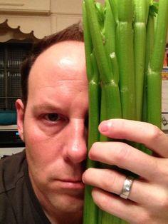 Matthew Gordon and his new flirt, Celery. Rookie Blue.