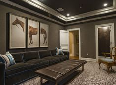 like the color or taupe for basement den and paint the walls /ceiling with can lighting