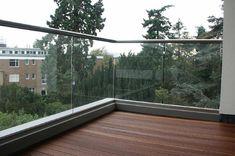 glass balcony corner