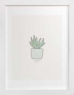 Succulent fig. 3 by Stacey Meacham at minted.com