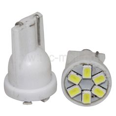 LED SIGNAL BULB T10 6SMD 1210 1 CHIP WHITE