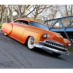 Peach hot rod sled