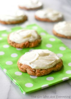 Chewy Carrot Cake Cookies -- a bit easier to make with a cake mix