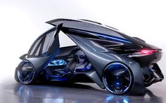 scifigeneration: CONCEPT CAR: CHEVROLET FNRGM's vision for self driving cars in the future shows some style! The Chevrolet FNR is an autonomous electric vehicle concept designed in Shanghai by General Motors' Pan Asia Technical Automotive Center (PATAC). Shanghai, Electric Car Concept, Electric Cars, Electric Vehicle, Automobile, Flying Car, Bmw I8, Futuristic Cars, Car Images