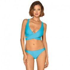 Disfruta tus vacaciones con un bikini sorprendentemente femenino Bikini Alto, Bikinis, Swimwear, Beautiful Lingerie, Color Azul, Hot, Polyester, Parfait, Composition