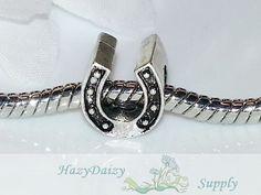 Lucky Horseshoe European Beads  Sku243 by HazyDaizySupply on Etsy, $3.75