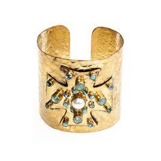 Alma Vieja turquoise cross cuff
