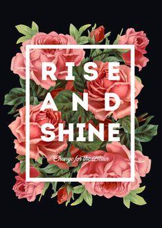 Цветочный принт: RISE & SHINE