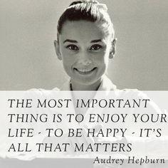 words of wisdom by Audrey Hepburn...via Elegant Nest