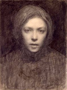 Ellen Thesleff (Finnish artist) 1869 - 1952 Omakuva (Self-Portrait)She became a member of a group of Finnish artists influenced by the Symbolist movement in Paris. Helene Schjerfbeck, Self Portrait Drawing, Portrait Art, Life Drawing, Painting & Drawing, Drawing School, Figurative Art, Female Art, Art History