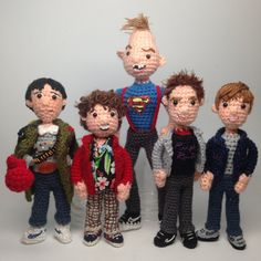 The Goonies Tribute Crochet Amigurumi doll dolls Pattern Set Your favorite movie is 30 years old this year! There's 45 pages of written amigurumi instructions, lots and lots of photos, and detailed lists of specific yarns, so you'll be able to recreat Crochet Patterns Amigurumi, Amigurumi Doll, Crochet Dolls, Crochet Hats, Knitting Patterns, Crocheting Patterns, Crochet Animals, Knitting Ideas, Robin