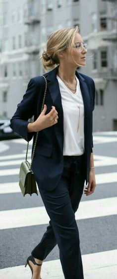 classic navy and white