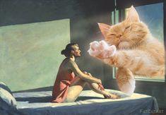 Edward-Hopper-Morning-Sun-Cat-w