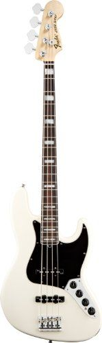 Fender American Deluxe Jazz Bass®, Olympic White, Rosewood Fretboard