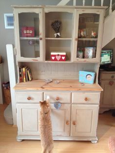 "An Annie Sloan ""country grey"" painted Welsh dresser I have just completed"
