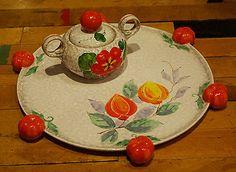 Czechoslovakia Estate pottery lot 2 piece