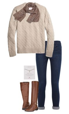"""""""Untitled #670"""" by sassy-and-southern ❤ liked on Polyvore featuring Frame Denim, Brooks Brothers, Aerosoles, Dogeared, sassysouthernfall and sassysouthernwinter"""