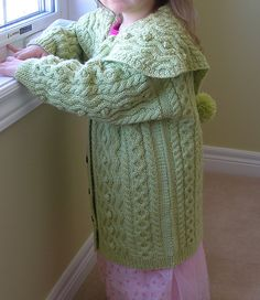 Ravelry: Aran Coat with Large Collar pattern by Debbie Bliss