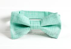 Boy's, Girl's Bow Tie, Newborn, Baby, Child- Mint Green, Texture, Toma's Tutus and Things, $10.50