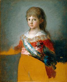 """goya francisco prt of francisco de paula antonio de borbon y borbon parma infante de espana (from <a href=""""http://www.oldpainters.org/picture.php?/26543/category/10347""""></a>)"""