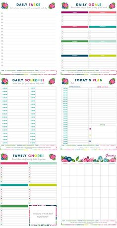 20+ FREE printables to help organize your life!  Everything from budget worksheets to cleaning schedules and recipes binders.  You'll find everything you need to get and stay organized!
