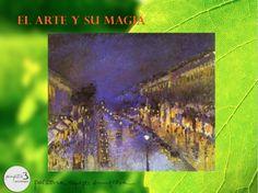 """CAMILLE PISSARRO: """"Le Boulevard Montmartre, effet de nuit (El Boulevard Montmartre de noche)"""", 1897 - Londres, National Gallery. Aunque Pissarro es más conocido por sus paisajes rurales, creó un gran número de escenas urbanas de París de gran calidad. En 1897 alquiló un estudio en el Boulevard Montmartre y representó esta vía a distintas horas del día, siendo esta la única vista nocturna de la noche. Es una sensacional pintura impresionista, aunque Pissarro nunca la expusiera en público en…"""