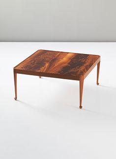 Jasef Frank; Mahogany-Veneered Wood 'Diplomat' Table for Svenskt Tenn, 1949.