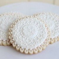 Wedding Lace Cookies by Auntie Bea's Bakery