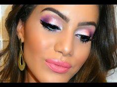 Colores naranja, rosa, morado, brillo. Maquillaje de ojos para boda o fiesta de mañana. Pink, orange, purple, glow. Eye makeup. Morning party or wedding. Couleurs rose, violet, brillant. Maquillage des yeux. Fête. Mariage de matin. Camila Coelho https://www.facebook.com/bagatelleoficial Bagatelle Marta Esparza #pink #orange #purple #glow