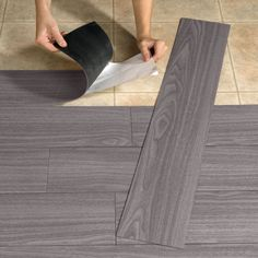 Peel-And-Stick Wood-Look Plank Flooring >> Maybe use it on an accent wall?? ;) ... #ProjectsToTry; #RusticCharm