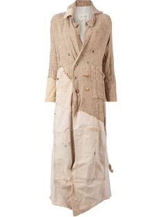 Shop Greg Lauren asymmetric panelled coat  in L'Eclaireur from the world's best independent boutiques at farfetch.com. Over 1000 designers from 300 boutiques in one website.