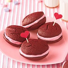 Mini Red Velvet Whoopie Pies | MyRecipes.com