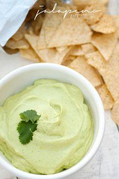 5 minute creamy jalapeno avocado dip   bigredclifford.com