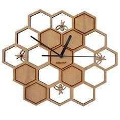 Giftgarden® Honeycombs Wooden Clock Handmade Fun Gifts Gi... http://www.amazon.com/dp/B01GJFCMGE/ref=cm_sw_r_pi_dp_r6rvxb0JCAGAT